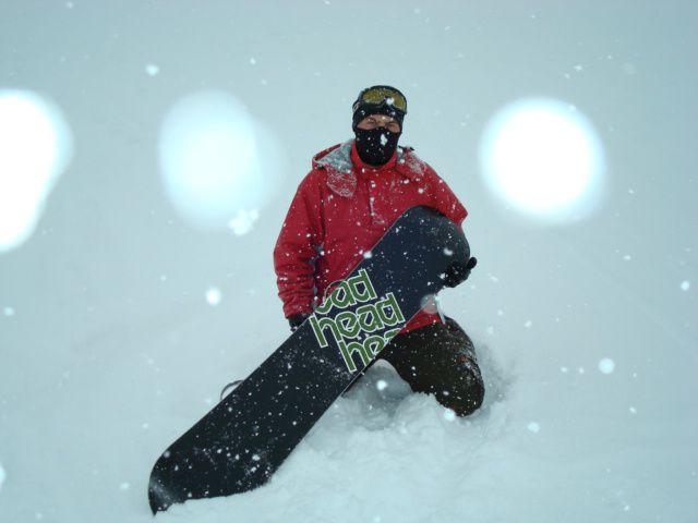 Moi en Snow