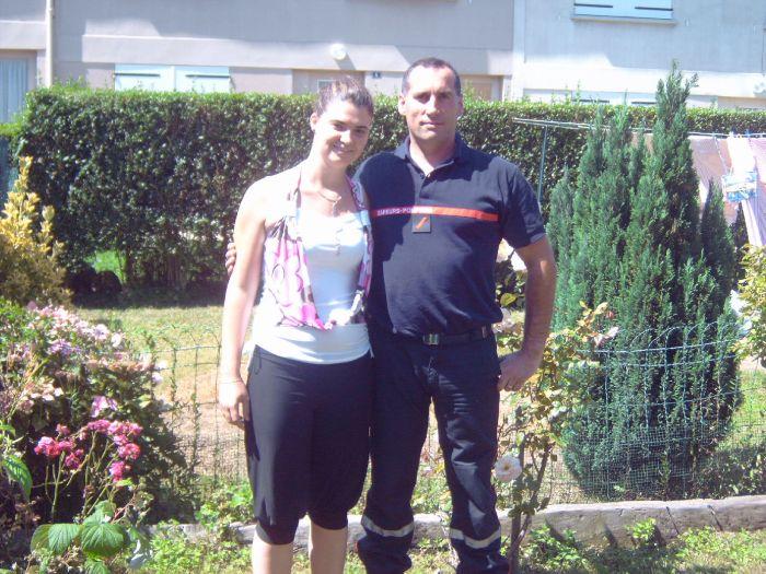 ma niece et mon mari juillet2007