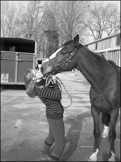 Une jument que j'aime bien plus que tout les autre chevaux.
