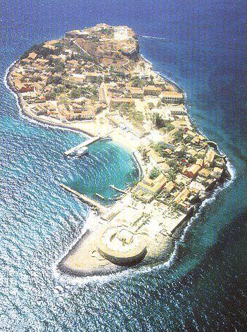 VIEW ON GOREE ISLAND SENEGAL