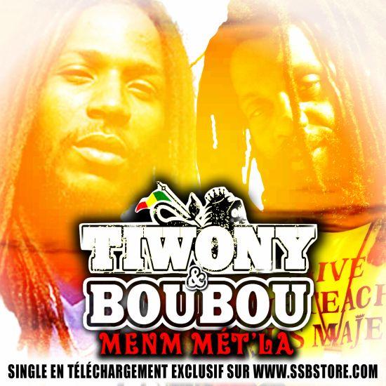 """new single TIWONY&BOUBOU """"menm mt' la"""" sur www.ssbstore.com"""