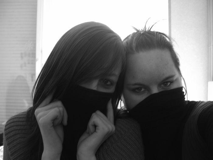 Moi et ma sister en mode gangsta