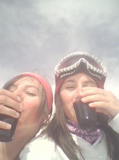 Lisa et Moi avec nos Vins chaud
