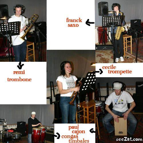 les musiciens en studio