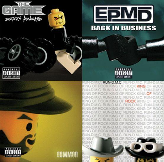 ALBUM COVERS RECREATED IN LEGO