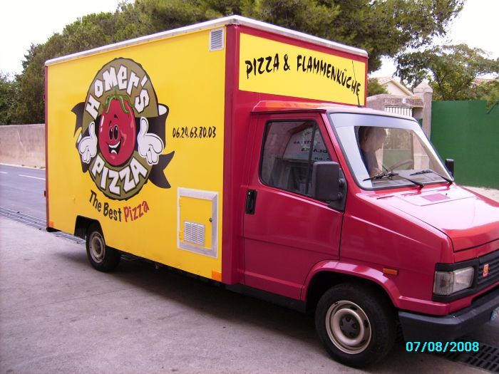 camion pizza homer's
