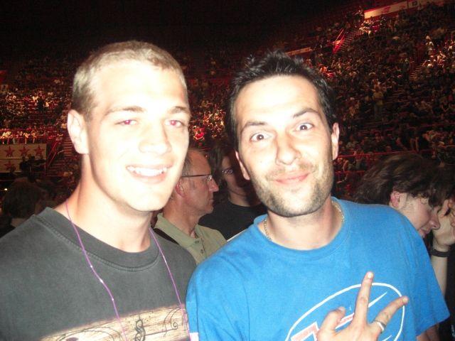 Moi(à gauche) et Fabrice(à droite) au concert de Iron Maiden