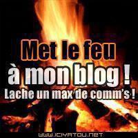 met le feu a mon blog