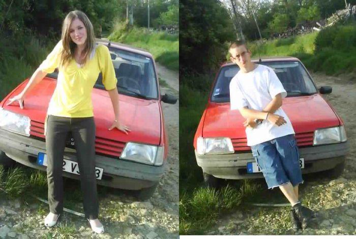 Ns Deux Avec la voiture d mn Homme