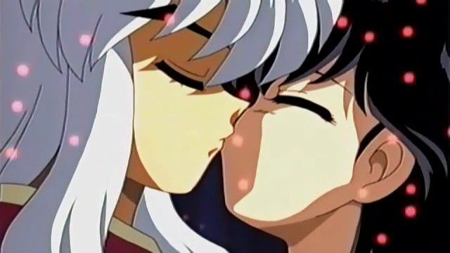 kagome embrasse inu