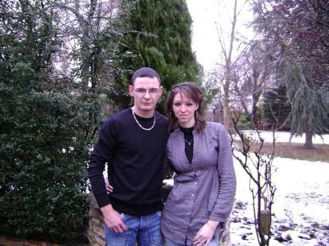 mon chéri et moi dans la neige