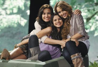 Demi,  Selena, Miley