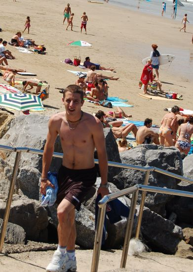 de retour de la plage...
