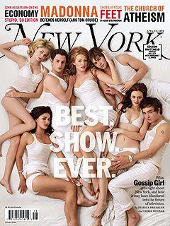 Les acteurs de Gossip girl pose pour le magazine New york
