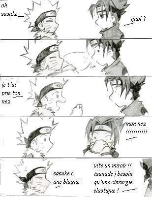 Sasuke passe pour un con xD