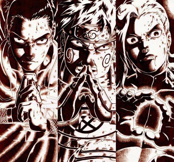 Shikamaru, Choji & Ino