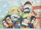 kakashi,naruto,sasuke,sakura,yondaime,lin et hobito