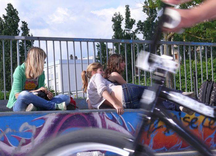 Sabrina, Zoé, Madeline, et mon vélo en 1er plan =)