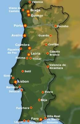 La carte du Portugal !!