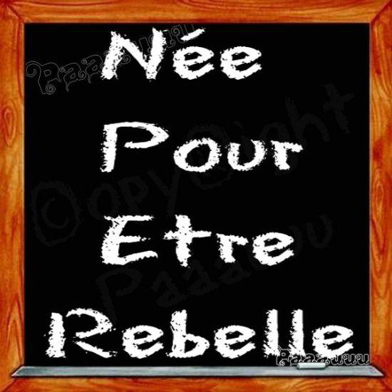 nee pour etre rebelle
