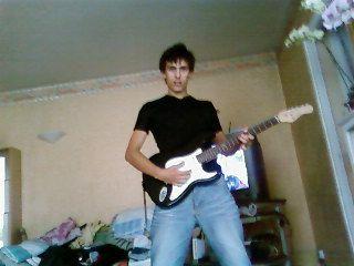 moi avec ma guitar electrique