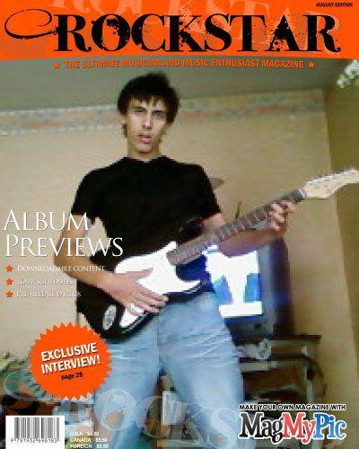 Moi dans un magazine rock star