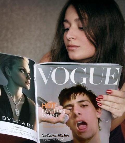 Une star dans un magazine
