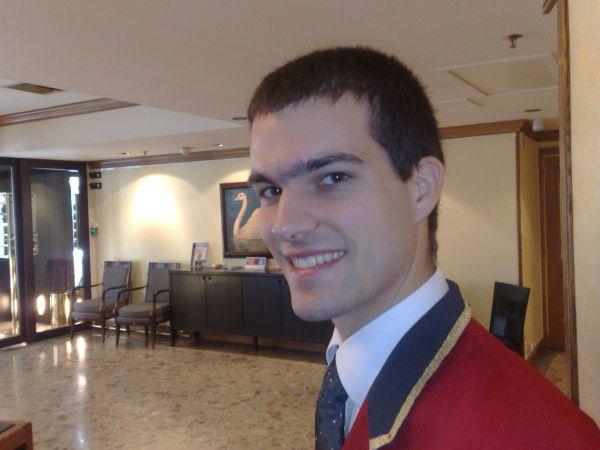 Moi à l'hotel où je travaille de temps en temps...