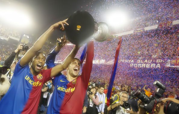L'international Malien Seydou Keita FC Barcelone