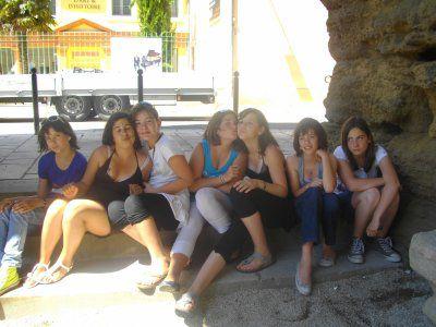 Lucie,Mlle sourire,Honorine,Moi,Eloïse,Cécile et Mélanie