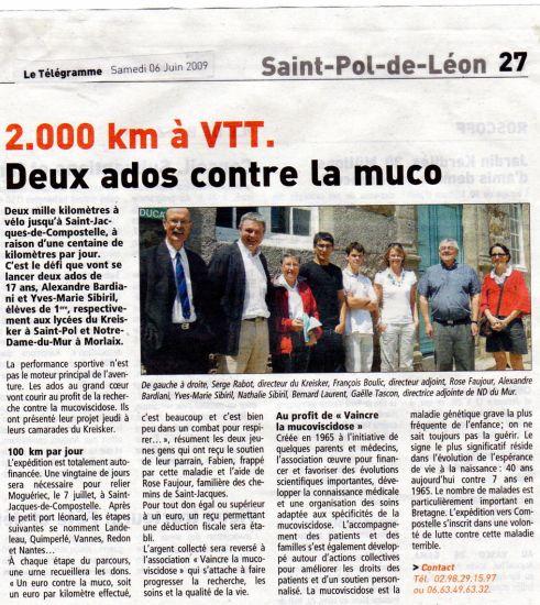 2000 KM EN VELO CONTRE LA MUCO
