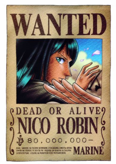 Nico Robin rechercher depuit qu'elle a 8 ans