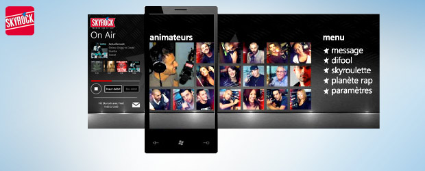 L'appli Skyrock sur Windows Phone 7