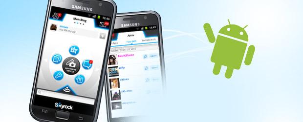 L'appli Skyrock.com sur Android